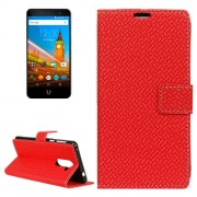 For Wileyfox Swift 2 Knit Texture Horizontal Flip Leather Case with Holder & Card Slots & Wallet & Photo Frame (Red)