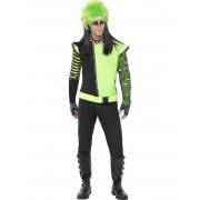 Casaco elfo gótico verde homem - M