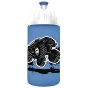 Kulacs, higiénikus műanyagból, 0,5L, FREEWATER Monster truck, kék (FW0505012)