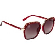 Aislin Over-sized Sunglasses(Grey, Brown)