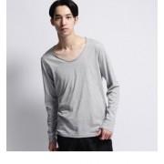 inner light roll collar long tee【ベース ステーション/BASE STATION メンズ Tシャツ・カットソー グレー(912) ルミネ LUMINE】