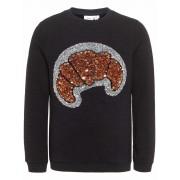 Name It! Meisjes Sweater - Maat 152 - Zwart - katoen met elasthan/viscose