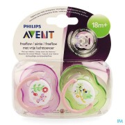 Avent Philips Avent Fopspeen Fash. 18m+ Animal Blue/pink Scf186/22
