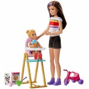 Set de joaca Barbie babysitter si Skipper