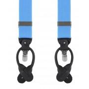 Luxus Hosenträger Hellblau - Blau