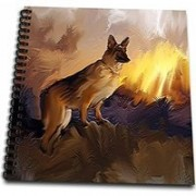 3dRose db_3345_1 German Shepherd-Drawing Book, 8 by 8-Inch