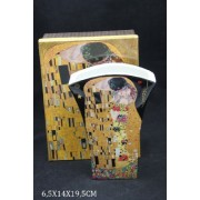 P.P.W4B46-16599 Porcelán váza 14x20cm,Klimt:The Kiss