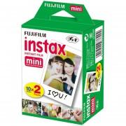 Paquete Fujifilm Instax Mini Twin Pack Instant Film- Blanco