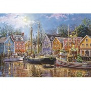 Sailing in the Village 1500 Piece Jigsaw Puzzle by Clementoni