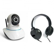 Mirza Wifi CCTV Camera and Extra Extra Bass XB450 Headset for SAMSUNG GALAXY A 3(Wifi CCTV Camera with night vision  Extra Extra Bass XB450 Headset )