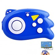 E-Mods Gaming Hisonders Tv Mini Game Console, Plug & Play Player with 89 Games (Blue)