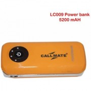 Callmate Power Bank LC009 5200 Mah - Yellow