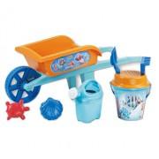 Roaba din plastic copii Androni Crazy Fish cu galetusa, stropitoare si alte accesorii nisip