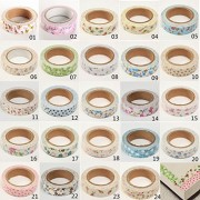 Generic Floral Fabric Tape Washi Masking Tape Decorative Tape Diy Tape Stickers(20)