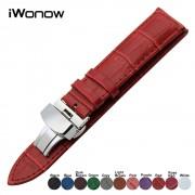 Genuine Leather Watchband for DW CK Timex Armani Certina Watch Band Steel Clasp Strap Wrist Belt Bracelet 18 19 20 21 22 23 24mm
