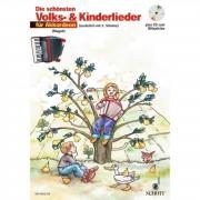 Schott Music - Die schönsten Volks- und Kinderlieder,CD,1-2Akkordeons