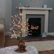 Beltéri rose gold világító fa 60 cm – csillogo effekttel