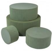 Rayher hobby materialen Rond groen steekschuim/oase blok nat 15 x 7 cm