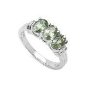 Inel argint 925 cu safir verde