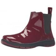 Easy Street Women's Lena Ankle Bootie, Burgundy Patent, 5.5 M US