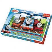 Thomas and Friends Funny locomotives - 24 Pieces Maxi Jigsaw Puzzle - by Trefl