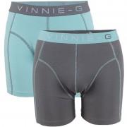 Vinnie-G boxershorts Mint Light - Grey 2-Pack-L