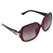 HRINKAR Men's Pink Mirrored Rectangular Sunglasses
