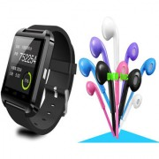 U8 Pro Bluetooth Smart Watch iOSAndroid Compatible with Noise Cancellation Earphones with Mic