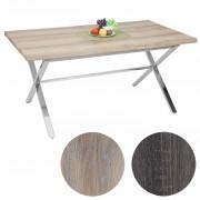 Esszimmertisch Fano, Tisch Esstisch, Edelstahl 3D-Struktur 160x90cm ~ Variantenangebot