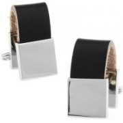 The Tie Hub Brass Cufflink(Black)