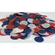 It's A Confetti Parti Biodegradable Paper for Holiday, Anniversary, Birthday, Graduation, Wedding, Bridal & Baby Parties. 1 Circles (30 Grams) (Red/White/Blue)