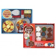Melissa & Doug Flip and Serve Pancake Set with Slice and Bake Cookie Set - Wooden