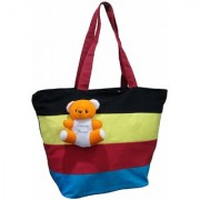 Atorakushon Multipurpose Carrying Case Women's Elegance Ethnic Cotton with small teddy Style Handbag.