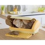 Cutie de paine cu tocator culisant-galben