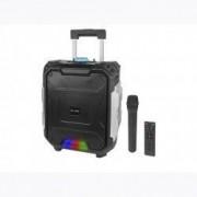 Boxa Bluetooth Activa Portabila cu Microfon si Telecomanda Karaoke Putere 100W Radio FM USB AUX Card SD