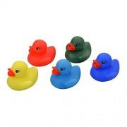 zizzi Set of 5 Rubber Colour Changing Ducks Fun Kids Bath Toy New Baby Duck Time Heat