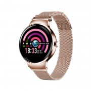 H5 IPS Girl Period Reminder Heart Rate Monitoring Sport IP67 Rated Waterproof Smart Watch - Gold