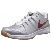 Nike Men's Air Vapor Indoor Court Metallic Silver,Gym Red,White Indoor Multisport Court Shoes -6 UK/India (40 EU)(7 US)