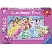 Puzzle Palace Pets 2x12 piese Ravensburger