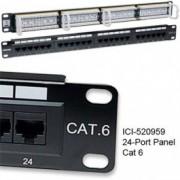 "INTELLINET lan patch panel UTP Cat.6 24 porta 1U 19"" crni"