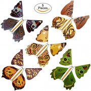 Flying Butterfly, Transer Magical Wind-up Flying Butterflies Trick Prop Magic Toys for Surprise, 5pc Randomly