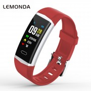 LEMONDA B5 0.96-inch OLED Color Screen GPS Fitness&Heart Rate Tracker Smart Wristband - Red