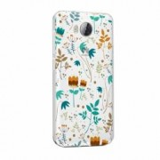Husa Silicon Transparent Slim Spirng Flowers Huawei Honor 4A