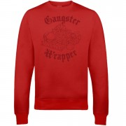 Gangster Wrapper Christmas Sweatshirt - Red - L - Red