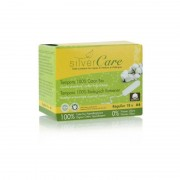 Tampon en coton normal - Sans applicateur - x18 bio - Silver Care