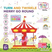 Smartivity Turn and Twinkle Merry Go Round stem, DIY, Educational, Learning, Building and Construction Toy for Girls