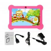 EY Q88 Niños Tablet De 7 Pulgadas, 512 MB De +8GB US Plug Kids Pad El Aprendizaje De Los Alumnos-Rojo