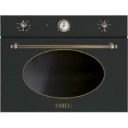 SMEG SF4800MAO beépíthető rusztikus mikrohullámú sütő - antracit