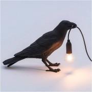 Seletti lámpara cuervo negro Waiting