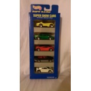 Hot Wheels - Super Show Cars - 5 Car Gift Pack 1:64 Scale Collectible Die Cast Cars